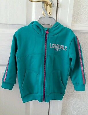 Lonsdale Kids Tracksuit Top Age 2-3