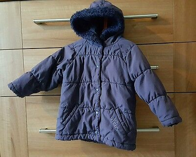 NEXT Girls Purple Padded Coat. For Autumn/Winter! 2 years