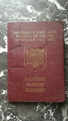 Vintage Republic of Albania Travel Document Uncirculated With Stamps 1-st type !