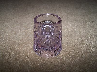 vintage purple toothpick container