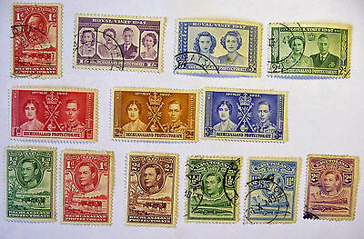 British Colonies Bechuanland Royal Visit 1947 KGVI QEII 1' Stamps lot651