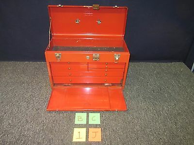 Yorktown Tool Box Chest Military Large Drawers Metal Red Trays Kit Surplus Used