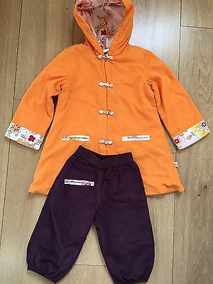 Tibetan Style Girls Warm Hooded Jacket And Trousers Age 2-3 Years