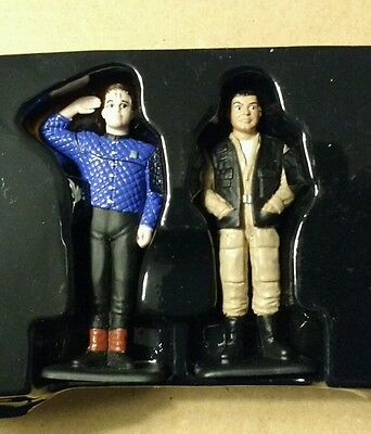 Red Dwarf Corgi Lister and Rimmer mini figures Excellent Condition BBC DAVE