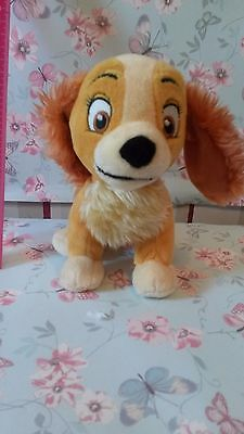 Lady soft toy, lady and the tramp from Disney Store Small