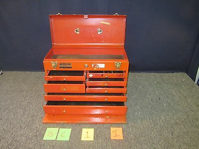Remline Red Chest Military Large Drawers Metal Tool Box Kit Surplus Tray Used