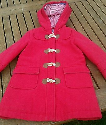 Mini Boden red wool Duffle coat age 3yrs-4yrs