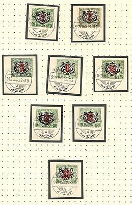 RARE UNLISTED 1919 STAMPS OVPT'd HUNGARIAN OCCUPATION OF BOROS-SEBES, ROMANIA