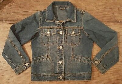 Next denim jacket girls age 7-8 years with diamanté and pockets. Good condition.