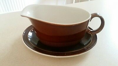 Poole Pottery Gravy Boat and Saucer Retro/Vintage Two tone