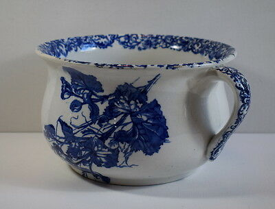 Antique Doulton Burslem Blue And White Chamber Pot.