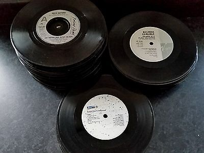 """JOB LOT (100) OF 7"""" SINGLES OF THE 1980s FOR UPCYCLING OR JUKEBOX (NO SLEEVES)"""