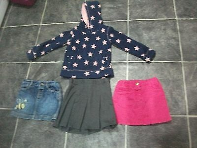 3 Girls Skirts And A Hooded Fleece Age 3-4