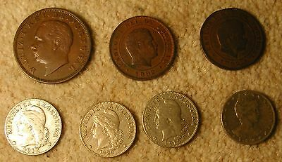 Coins of Portugal, Brazil and Argentina
