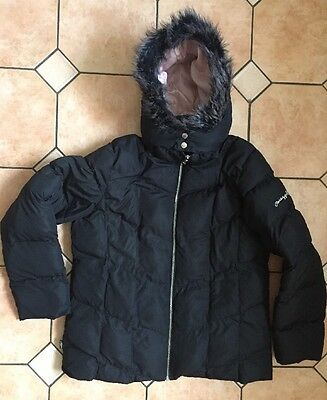 PINEAPPLE GIRLS BLACK HOODED SKI JACKET - Size 15-16 Years UK