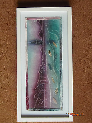 Sam Poyser Signed and Framed Textile art - Attenborough Waters Nottingham