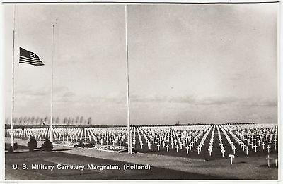 MARGRATEN - US Military Cemetery - Netherlands - c1940s Real Photo postcard