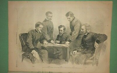 Harper's Weekly 6/24/1865  Custer meeting with Sheridan   Grant greets W. Scott