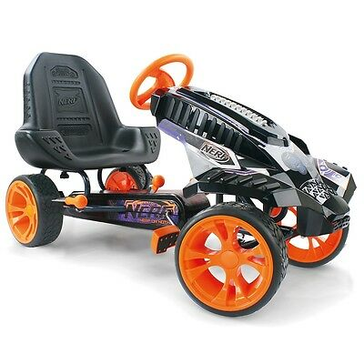 Nerf Battle Racer Ride-on, Kids Pedal Ride On Car with Holsters and Handbrake