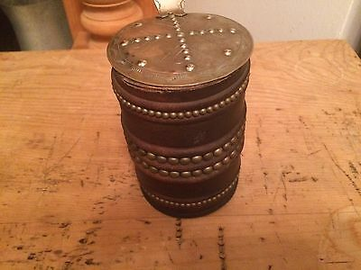 Antique Leather Dice Holder