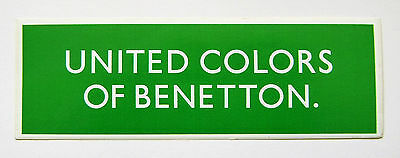 Vintage 1980's United Colors Of Benetton sticker - bright green