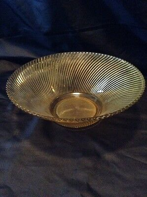 Depression Glass Amber Diana Console Bowl Federal Glass Salad