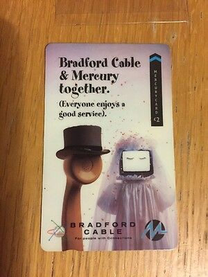 MINT Condition Bradford Cable & Mercury Together Phonecard