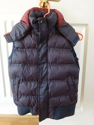 Harry Hall Gilet Age 8/9 years Navy check