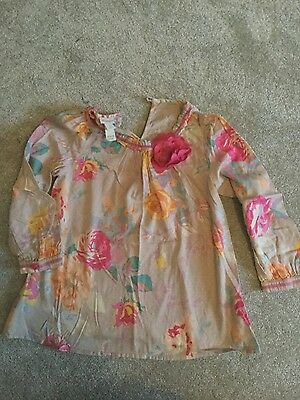 Kids monsoon top with flower details age 5-6