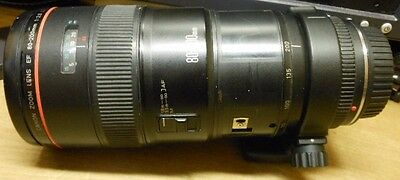 Canon Zoom Lens EF 80-200mm 1:2.8 L, Auto-Focus Works Great, Rough Condition!