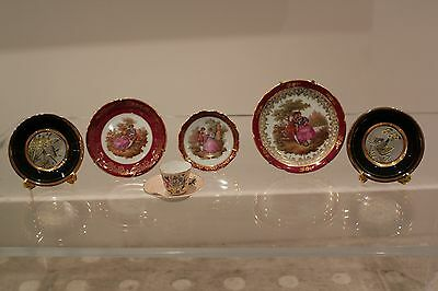 3 Limoges & 2 Japanese Plates + Antique Porcelain Hand made China Cup & Saucer