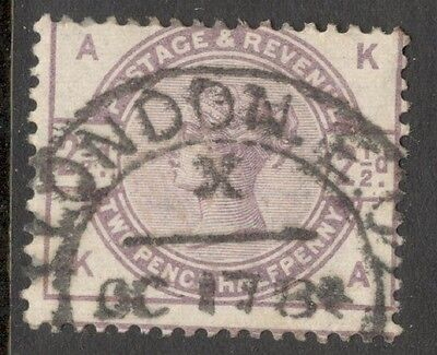 Queen Victoria - SG 190 - 2 1/2d Lilac - Used -  Letters K A