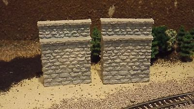 N-Scale 2 Stone Abutments 1:160 Model Train Detail Parts