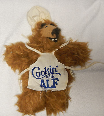 """Cookin with ALF Puppet, Chef Hat, Apron, 11"""" Plush Toy"""