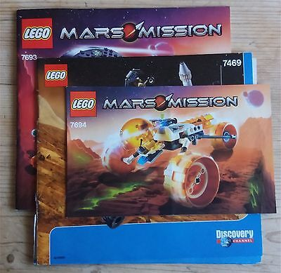 Lego Instruction booklets for Mars Mission