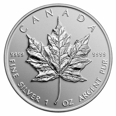 2011 UNCIRCULATED 1 ounce .9999 SILVER CANADIAN MAPLE LEAF NEW IN CAPSULE
