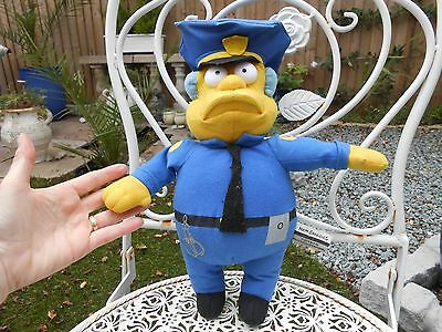 the SIMPSONS large CHIEF WIGGUM soft plush toy figure,2006
