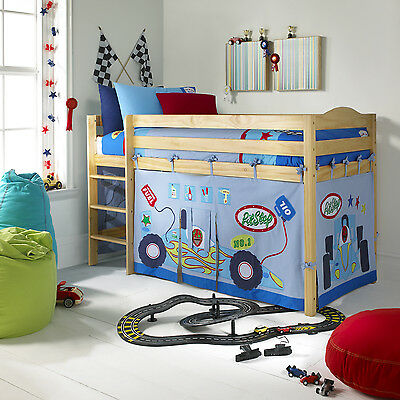 IZZIWOTNOT Pit Stop Playhouse Curtains/tent/Canopy for under a Raised Bed NEW