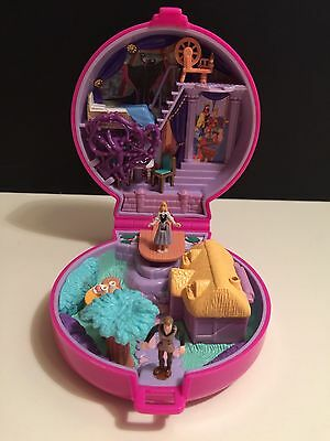 100% Comp. (with Cradle) Disney Polly Pocket Sleeping Beauty Playcase 1996