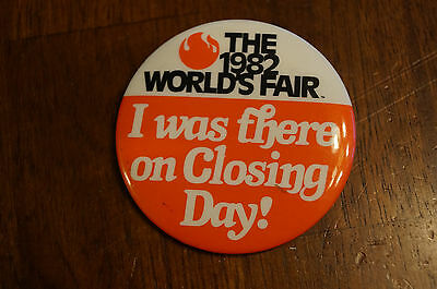 1982 Worlds Fair Knoxville Last Day Button