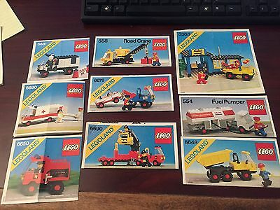 Lego Instruction booklets - 24 - vintage (from late 1970s and early 1980s)