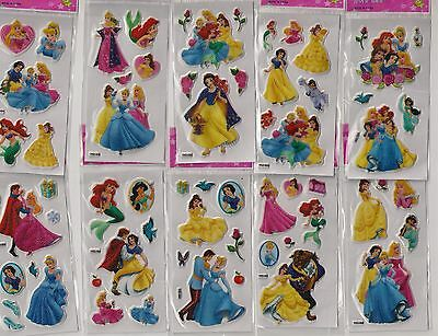 Disney Princess 10 sheets of stickers for girls party loot bags fillers