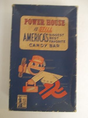 WWII Walter Johnson Power House Candy Bar Store Display Box  War Bonds Ad