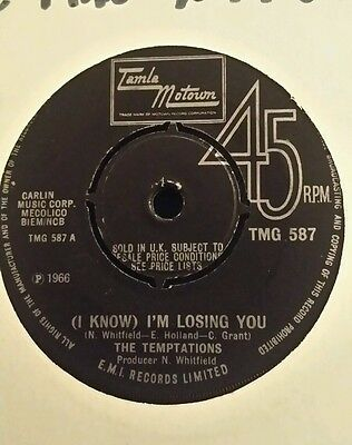 The Temptations I Know I'm Losing You Tmg587