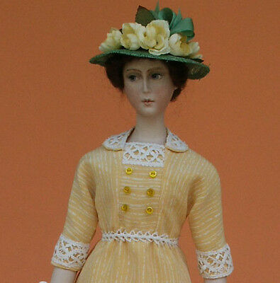 """1911 Summer Silk & Lace Sewing Pattern for a 17"""" doll #98"""