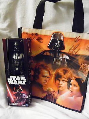 Star Wars The Force Awakens Darth Vader Collectibles Toy & Tote Bag