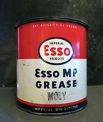 1950's ESSO Oil Imperial Products 5 lb Grease Can