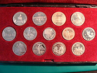 Russia Collection Of 13 Proof Coins   In Hard Box # 2