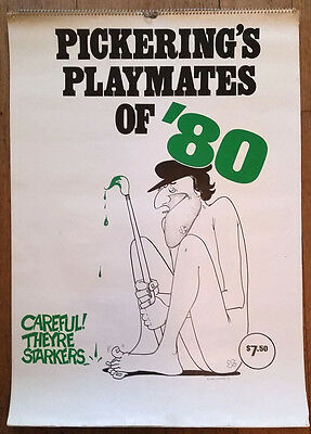 3 PICKERING'S PLAYMATES NUDE CALENDARS 1980, 1982, and 1984