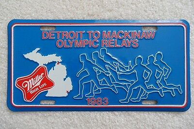 Michigan Booster License Plate - Detroit To Mackinaw Olympic Relays